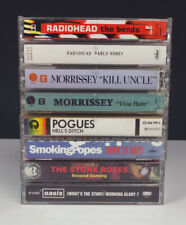 Lot 8 Alt Rock Cassette Tapes • Radiohead• Morrissey• Stone Roses• Pogues• Oasis