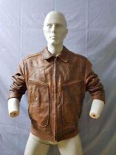 Charleroi aviator flight pilot leather jacket very rare