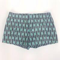 Gap Chino Shorts Mid Length Geometric Print Pockets Cute Bottoms Womens Sz 4