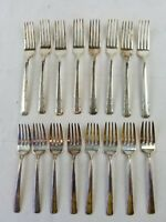 lot of 16 FORKS Art Deco Silver Plate Wallace XXXX Harmony House Personality