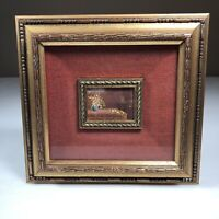 "Mini Oil Painting Artist B Sozzentino Double Framed 10""x 9.5"" Outer Frame Italy"
