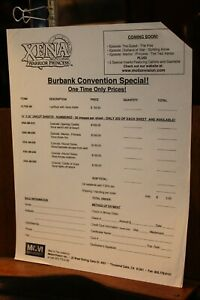 Vintage XENA Warrior Princess Lucy Lawless Fan Club Coupon Burbank Convention