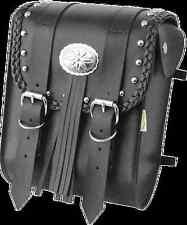 Willie & Max Black Leather Warrior Motorcycle Stud Sissy Bar Bag Harley Davidson
