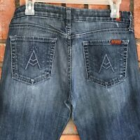 "Women's 7 For All Mankind ""A"" POCKET Bootcut Stretch Denim Blue Jeans W29 L29"