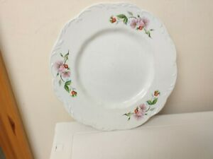 VINTAGE,...RETRO...DINNER PLATE....FLORAL DESIGN...NICE SHAPE...WHITE..FLOWERS