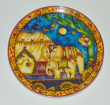 Royal Doulton Collector plate Circus Of The Moon Party Time 1995 Vtg Elephants