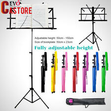 Adjustable Sheet Folding Music Stand Metal Tripod Stand Holder w/ carry Bag