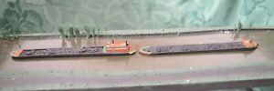 N gauge canal boat models