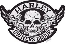 2XL HARLEY DAVIDSON Owners Group BACK PATCH Jacket SKULL WINGS Vest LARGE 12""