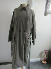 Atmosphere Ladies Grey Long Trench Coat Mac Lined Belted Pockets Size 16 New