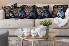 "Good Luck Elephant Tree 5 Cushion Cover Mandala Throw Pillow Sham Home Decor 18"""