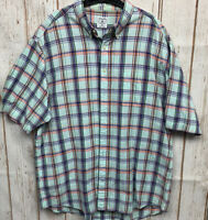Brooks Brothers Sport Shirt Men's XL Short Sleeve Cotton Plaid Button Up
