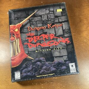 Dungeon Keeper: The Deeper Dungeons Mission Disk (PC, 1997) Big Box New
