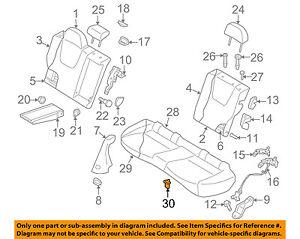 SUBARU OEM 05-16 Legacy Rear Seat-Seat Cushion Pad Hook 64396KA010