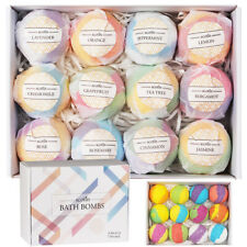 Handmade Bath Bombs with Natural and Organic Ingredients, gift box wrapped