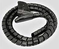 Couvre-câble (cache câbles) noir, flexible pour rassembler et cacher les câbles
