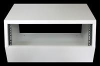 "White 3u angled 19"" inch wooden rack unit/case/cabinet for studio/DJ/recording"