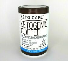 Keto Cafe Ketogenic Coffee Energy/Metabolism/ Brain Power MCT French Vanilla New