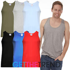3X Pack Mens Fitted Vest Plain Muscle Training Sleeveless Racer Tank Top Summer