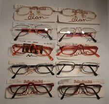 Vintage 10 Pc. Lot 1/2 Eye Eyeglass Frames New Old Stock #313