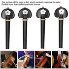 4Pcs CL-70 Cello Tuning Peg Ebony Wood Cello Pegs String Tuning Gift for Playing