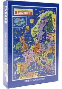 JR Puzzles VINTAGE Map Of EUROPE Large 500 piece JIGSAW Puzzle Geography *NEW*