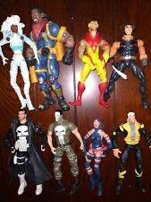 Marvel Legends Lot Of 8 Figures. Hasbro Toybiz Toys Xmen Punisher
