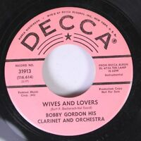 Pop Promo 45 Bobby Gordon His Clarinet And Orchestra - Wives And Lovers / It'S O