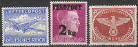 Stamp Selection Germany Mi 1-3 WWII 3rd Reich Hitler Airplane Feldpost MNH