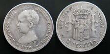 ALFONSO XIII , 2 PESETAS DE 1889 . ESCASA . PLATA