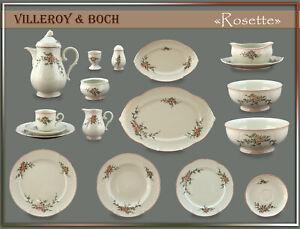 "Villeroy & Boch ""Rosette"" Teile zur Wahl: teller tasse platte dose schale kanne"