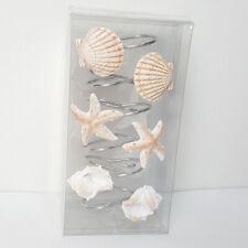 12Pcs Seashell Bath Shower Curtain Hooks Bathroom Beach Shell Bedroom Home Us