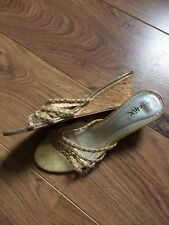 ladies gold wedge shoes size 6