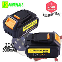 2× 3.0Ah For Dewalt 20Volt Lithium Battery Max XR  DCB203 DCB200 DCB204 DCB205