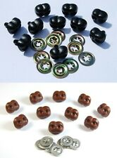 More details for animal / dog noses with metal backs - character animal safety nose for soft toys