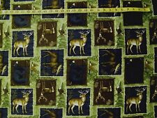 New listing Deer Black Bear Eagle Moose Patch 100% Cotton Fabric 15X43 Inches