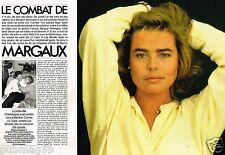 Coupure de Presse Clipping 1988 (4 pages) Le Combat de Margaux Hemingway