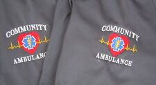 2 PARAMEDIC EMT RESCUE COMMUNITY AMBULANCE 2XL GRAY SHIRTS GOOD CONDITION!