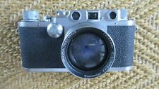 LEICA LEITZ rangefinder camera IIIc No. 507730 with original case Summitar 1950?