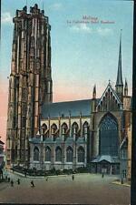 alte A.K.Malines(Mechelen) La Cathedrale Saint Rombaut,gel.1918