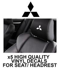 MITSUBISHI LOGO HEADREST CAR SEAT DECALS Vinyl Stickers Graphics X5