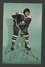 Bob Neely 1970s Toronto Maple Leafs Hockey Postcard