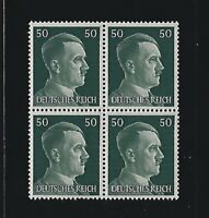 MNH stamp block / Adolph Hitler / PF50 / WWII Germany / 1941 Third Reich issue