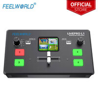 FEELWORLD LIVEPRO L1 V1 Video Production Switcher 4 HDMI Input Live Stream Mixer
