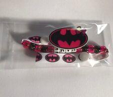 BATGIRL Personalised Dummy Pacifier Clip ~ Super Hero ~ NEW ~ Hot Pink & Black ~