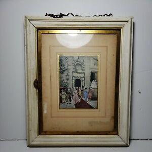 Vintage Tri Fold Hanging Mirror L B & F Paris L B Miroir Brevete SGDG Mardue