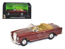 1961 BENTLEY CONTINENTAL S2 PARK WARD DHC BURGUNDY 1/43 BY ROAD SIGNATURE 43214