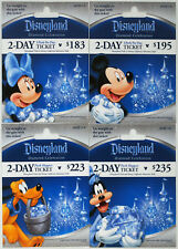 All 4 Different DISNEYLAND 60th Anniversary Passport Gift Cards 2016 Silver Mint