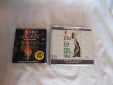 2 Audio books on CD's Girl Long Green Heart/Block/Absolute Friends/Le Carre'