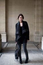 Rare RICK OWENS mohair leather jacket IT 40 (UK 8)